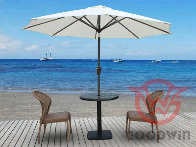 Sunproof Aluminum Outdoor Patio Beach Umbrella