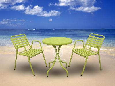 All Weather Colorful Aluminum Frame Dining Set