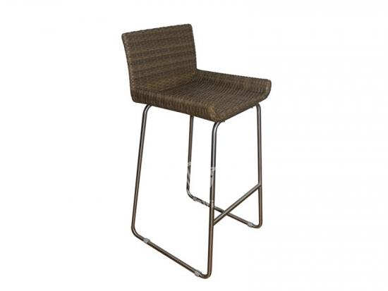 Metal Frame Rattan Bar Set