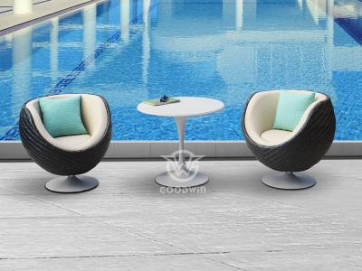 Outdoor Swivel Chairs Set