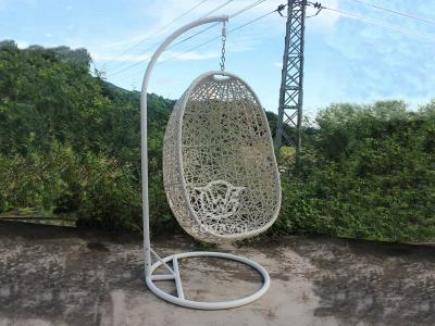 Outdoor Patio Double Weave Rattan Egg Swing
