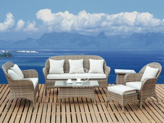 Synthetic Rattan Sofa Set For Garden