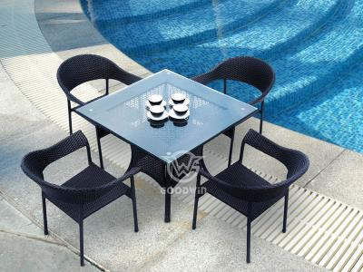 5 Pieces Rattan Dining Set