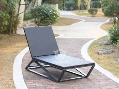 Unique Design Pool Furniture Synthetic Rattan Chaise Lounge