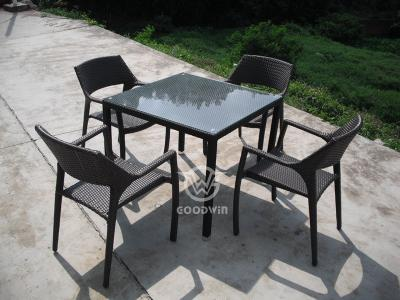 Outdoor Garden Restaurant Furniture Rattan Dining Set