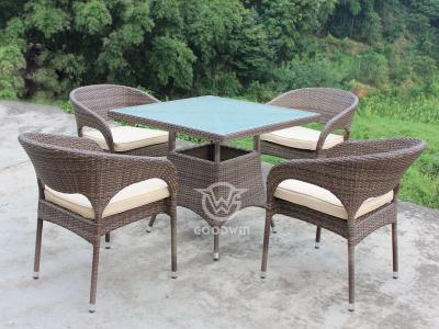 4 Seat Outdoor Wicker Rattan Dining Set