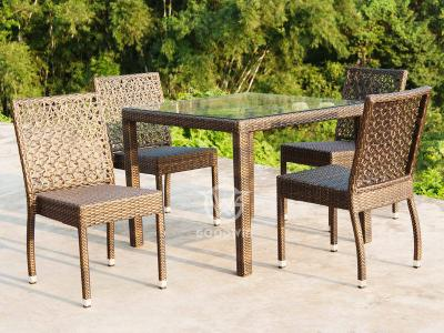 4 Seat Outdoor Living Rattan Dining Set